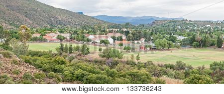 GRAAFF REINET SOUTH AFRICA - MARCH 7 2016: A high school in Graaff Reinet. The town was founded by the Dutch East India Company (VOC ) in 1786