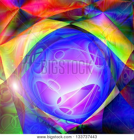 Abstract coloring skyline gradients background with visual lens flare and pinch effects