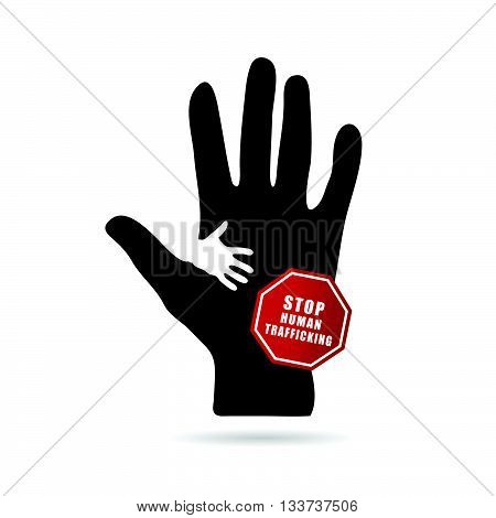 Stop Humain Trafficking Icon Illustration