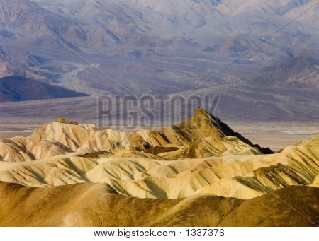 Zabriskie Point During Sunrise