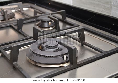 Kitchen cooking gas stove in the kitchen