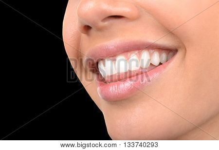 Image of very Beautiful Clean Teeth on Black