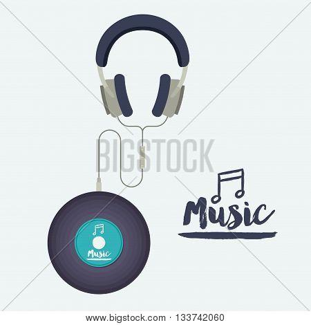 music record design, vector illustration eps10 graphic