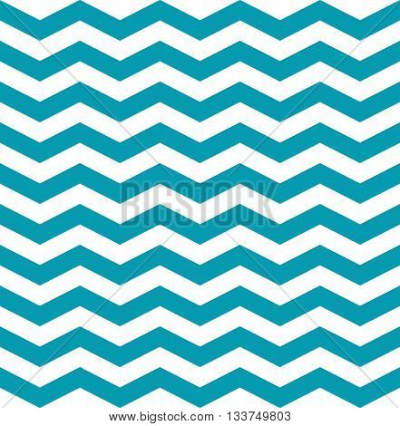 Seamless pattern zig zag. Vector blue and white background.