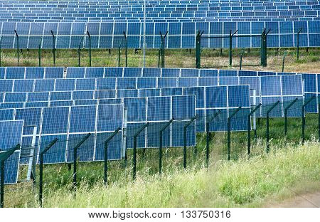 Solar Energy Farm With Photovoltaic Panels