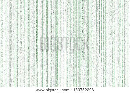 green matrix with lines of falling digital on white background