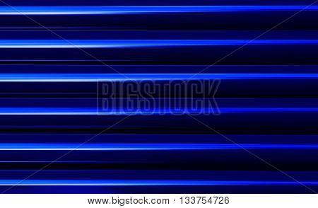 Horizontal vivid vibrant blue business presentation abstract blinds background backdrop