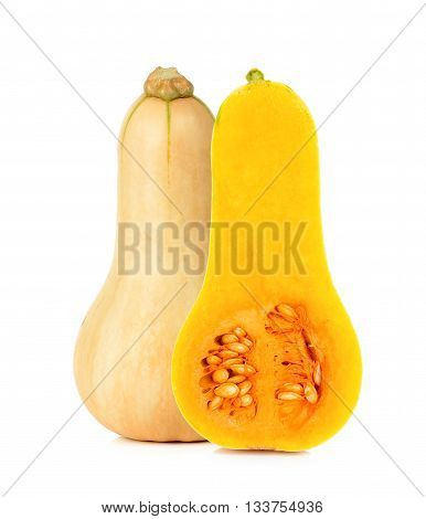 Butternut Squash Isoalted On The White