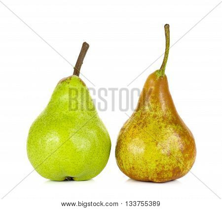 Green And Brown Pear Isolated