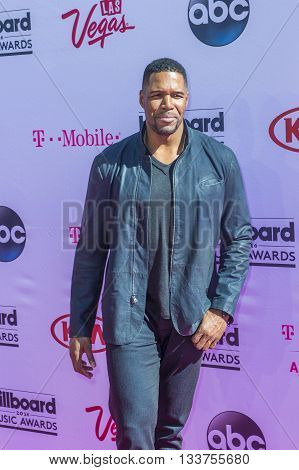 LAS VEGAS - MAY 22 : TV personality/retired NFL player Michael Strahan attends the 2016 Billboard Music Awards at T-Mobile Arena on May 22 2016 in Las Vegas Nevada.