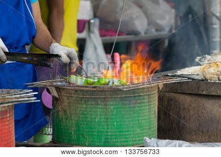 Thai Street Food, Grilled Eggplant