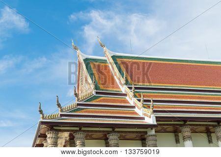 Sanctuary in temple at Wat Thep Sirin Thrawat Ratchaworawihan.