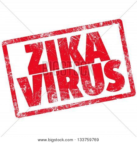 Grunge rubber stamp with text -Zika Virus
