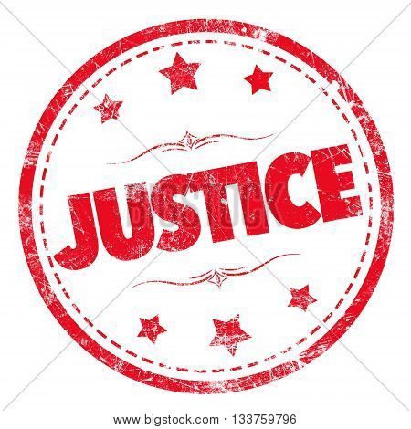 Grunge rubber stamp with text - JUSTICE
