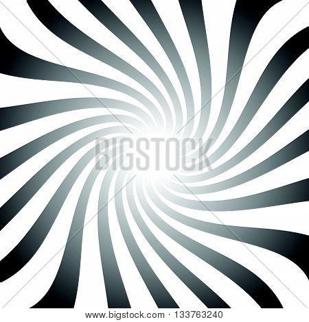 Abstract Twist, Swirl, Rays Radial Stylish Background