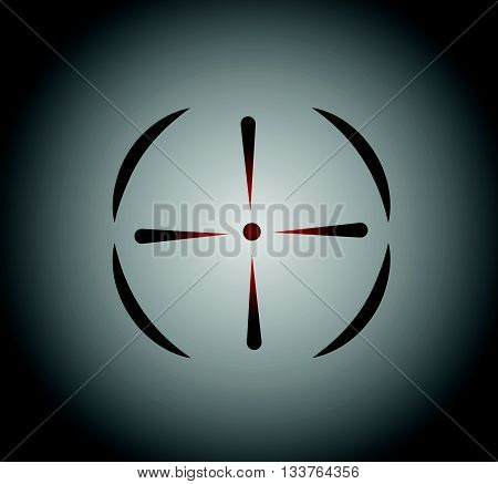 Crosshair reticle viewfinder target graphics  1 vector