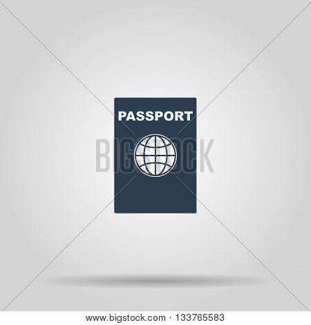 Passport icon. Vector concept illustration for design.