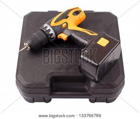 The screw gun on a white background