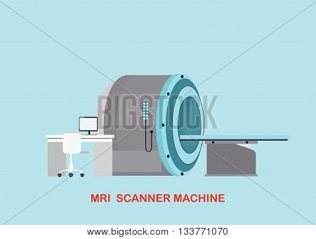 MRI scanner machine technology and diagnostics medical Health care Vector illustration.