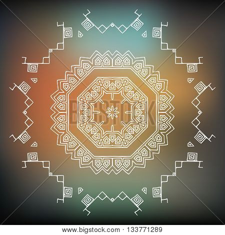 Vector Tribal element ethnic collection aztec stile tribal art. Aztec design icon logo