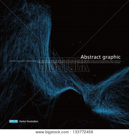 complex lines consisting of Abstract graphic, Vector illustration.