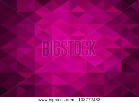 hot pink abstract background of triangles low poly