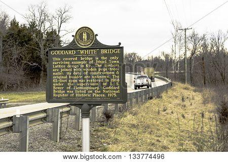 Goddard, Kentucky, February 26, 2016: Goddard