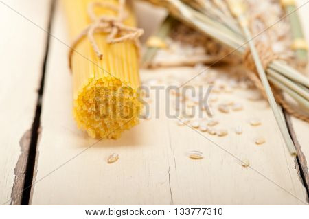 Organic Raw Italian Pasta And Durum Wheat