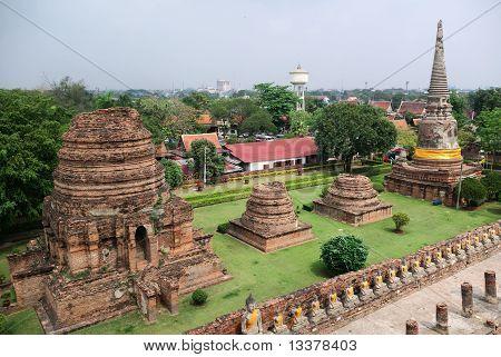 Stupas At The Wat Yai Chai Mongkhon