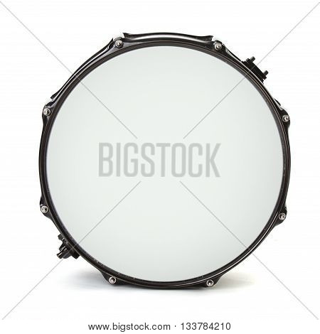 one bass drum isolated on white background
