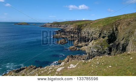 View of the South West Wales Coastline from St Davids, Pembrokeshire