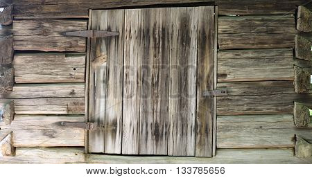 Vintage wood wall and window exterior background
