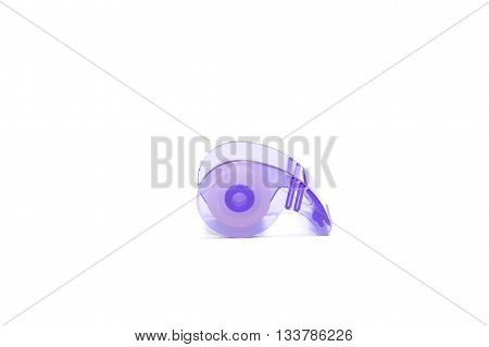 Roll of Transparent Tape on white background , isolated