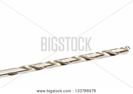 Drill bit isolated on a white background.