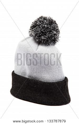 Cold winter clothing - hat or cap isolated on white background.