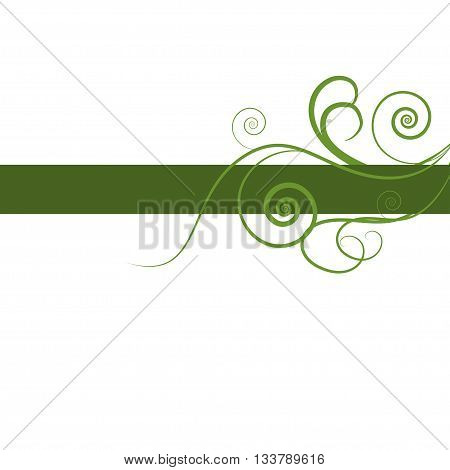 Green floral fresh design of card. Design for ecology invitation card, wedding, stickers, healthy card, greeting
