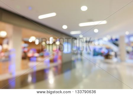 Blur Department Store Shopping Mall Centre Background