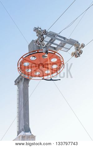 Design of the main ski lift support electric