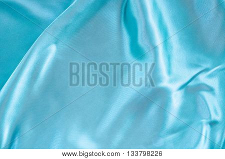 Smooth elegant blue silk or satin can use as wedding background