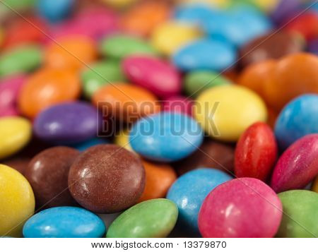 Coloured Chocolate Drops