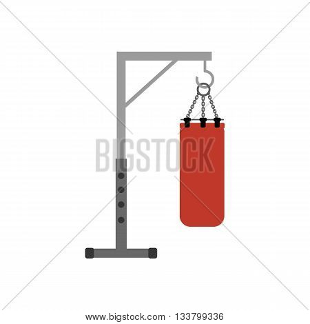 Punching bag isolated on white background. Vector illustration