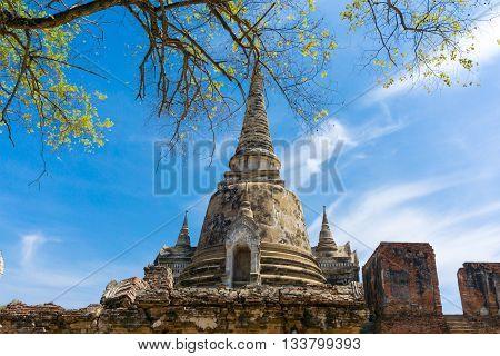 Wat Phra Si Sanphet (wat Mongkol Bophit) Old Pagoda Temple Historical Park, Phra Nakhon Si Ayutthaya
