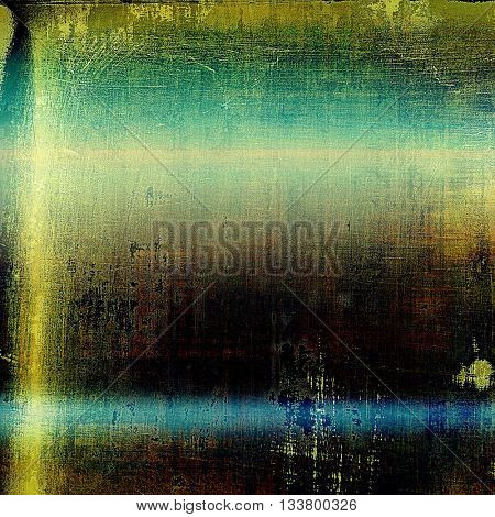 Stylish grunge texture, old damaged background. With different color patterns: yellow (beige); brown; green; blue; cyan; black