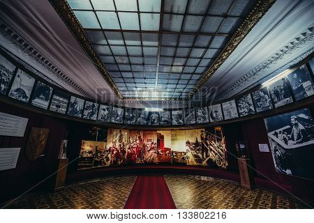 Gori Georgia - April 23 2015. Hall in Museum of Joseph Stalin in his hometown - Gori