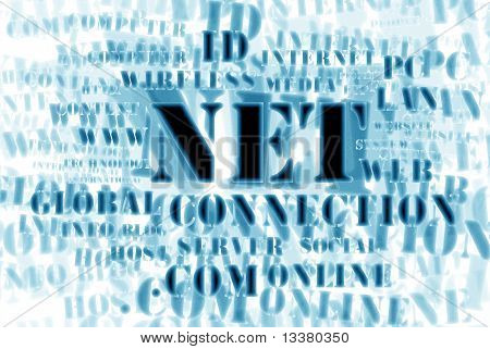 Concept Of Net And Web - Word Cloud