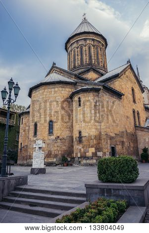 Tbilisi Georgia - April 24 2015. Sioni Cathedral of the Dormition at Sioni Street in Tbilisi
