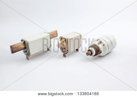with an white background there are several old fuse