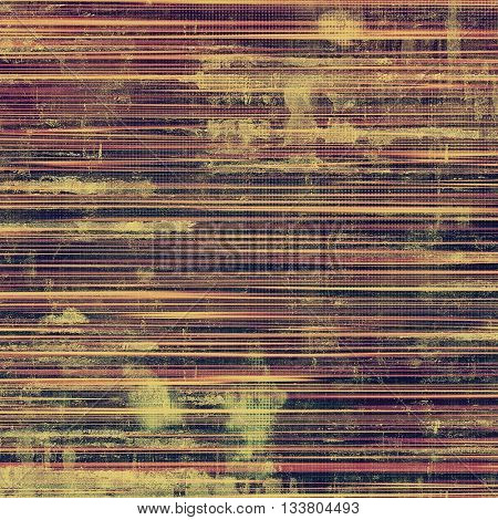 Tinted vintage texture, aged decorative grunge background with traditional antique elements and different color patterns: yellow (beige); brown; gray; red (orange); purple (violet); pink