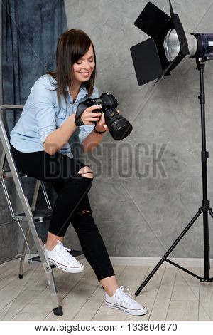 cheerful photographer