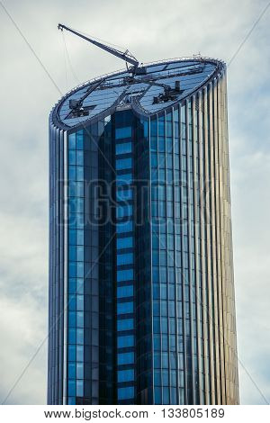 Amman Jordan - December 23 2015. View on modern Amman Rotana Hotel Tower in capital of Jordan
